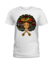 Melanin Words Art Afro Natural Hair Black T-Shirt Ladies T-Shirt thumbnail