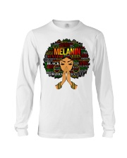 Melanin Words Art Afro Natural Hair Black T-Shirt Long Sleeve Tee thumbnail