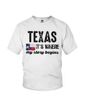 TEXAS IT'S WHERE MY STORY BEGINS SHIRT Youth T-Shirt thumbnail