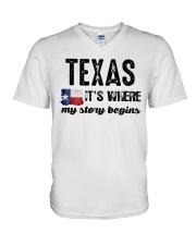 TEXAS IT'S WHERE MY STORY BEGINS SHIRT V-Neck T-Shirt thumbnail