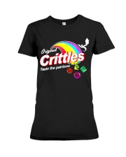 Crittles Taste The Painbow Funny DND DM D20 Shirt Premium Fit Ladies Tee thumbnail