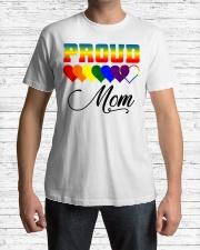 LGBT Pride Proud Mom LGBT Gay Lesbian Pride Shirt Classic T-Shirt lifestyle-mens-crewneck-front-1