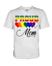 LGBT Pride Proud Mom LGBT Gay Lesbian Pride Shirt V-Neck T-Shirt thumbnail