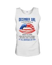 December Girl Unisex Tank thumbnail