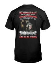 November Man Classic T-Shirt back