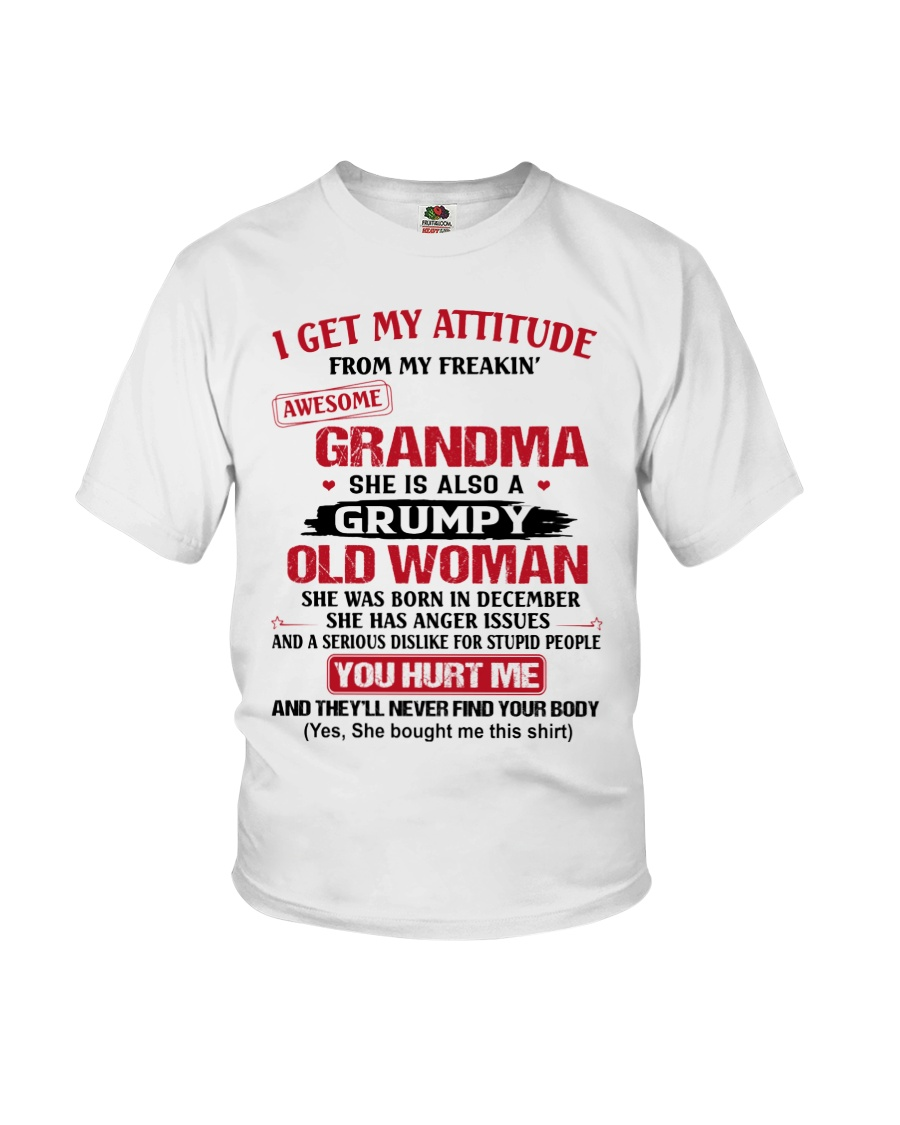 December Grandma Youth T-Shirt