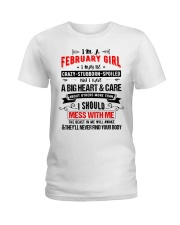 February Girl Ladies T-Shirt thumbnail