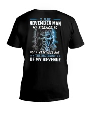 November Man V-Neck T-Shirt thumbnail