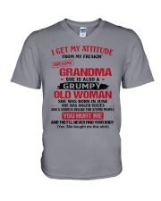 June Grandma V-Neck T-Shirt thumbnail