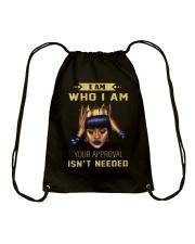 I am Who I am Drawstring Bag thumbnail
