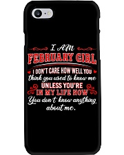 February Girl Phone Case tile