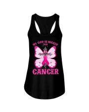 My god is bigger than cancer T-shirt Ladies Flowy Tank thumbnail