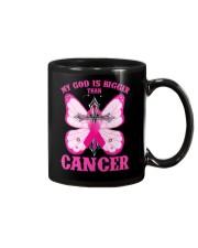 My god is bigger than cancer T-shirt Mug thumbnail