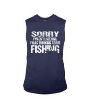 I Was Thinking About Fishing Sleeveless Tee thumbnail