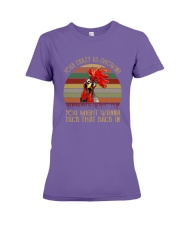 Your Crazy Is Showing Premium Fit Ladies Tee thumbnail