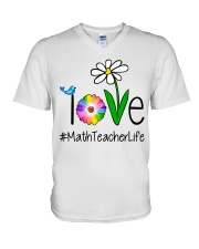 Love Math Teacher Life V-Neck T-Shirt thumbnail