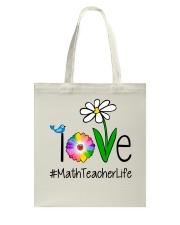 Love Math Teacher Life Tote Bag thumbnail