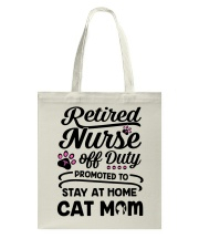 Retired Nurse - Stay at Home Cat Mom Tote Bag thumbnail