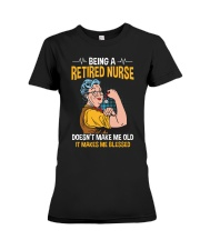 Retired Nurse - Make me Blessed Premium Fit Ladies Tee thumbnail