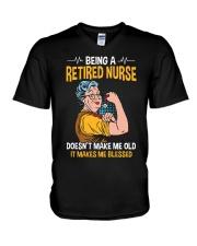 Retired Nurse - Make me Blessed V-Neck T-Shirt thumbnail