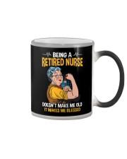 Retired Nurse - Make me Blessed Color Changing Mug thumbnail