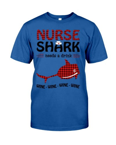 Christmas Nurse - Shark Needs A Drink