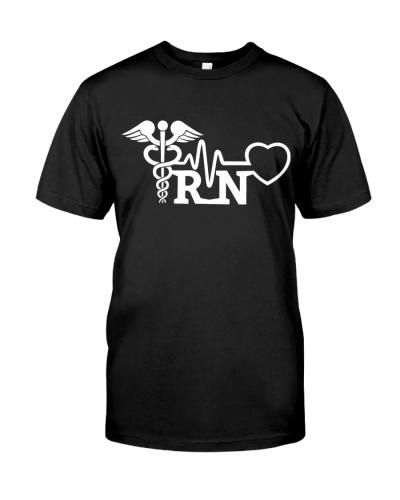 RN Nurse - Line Heart