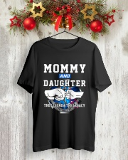 EMT - Mommy and Daughter - The Legend and Legacy Classic T-Shirt lifestyle-holiday-crewneck-front-2