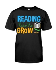 Librarian - Reading Help Us Grow Classic T-Shirt front
