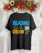 Librarian - Reading Help Us Grow Classic T-Shirt lifestyle-holiday-crewneck-front-2