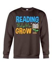 Librarian - Reading Help Us Grow Crewneck Sweatshirt thumbnail