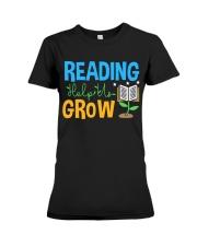 Librarian - Reading Help Us Grow Premium Fit Ladies Tee thumbnail