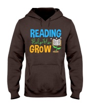 Librarian - Reading Help Us Grow Hooded Sweatshirt thumbnail