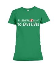 Beautiful Day Save Lives Premium Fit Ladies Tee thumbnail