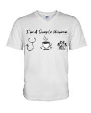 Nurse - I'm a simple woman  V-Neck T-Shirt thumbnail