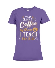 Teacher - Coffee Premium Fit Ladies Tee thumbnail