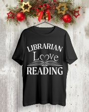 World Book Day - Librarian Love Reading Classic T-Shirt lifestyle-holiday-crewneck-front-2