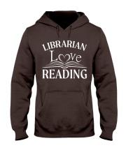 World Book Day - Librarian Love Reading Hooded Sweatshirt thumbnail