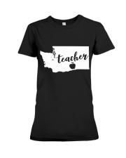 Washington Teacher - Map Premium Fit Ladies Tee thumbnail