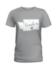 Washington Teacher - Map Ladies T-Shirt thumbnail