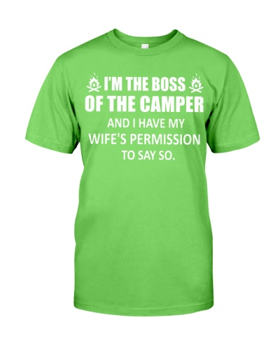 Camping - Boss Of The Camper - Funny Camping Gift