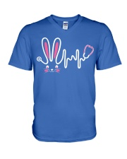 Bunny Respiratory Therapist - Easter Day V-Neck T-Shirt thumbnail