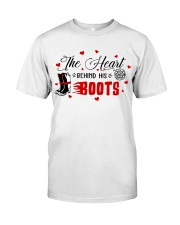 Firefighter - The Heart behind His Boots Classic T-Shirt front