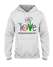 Love Retired Teacher Life Hooded Sweatshirt thumbnail