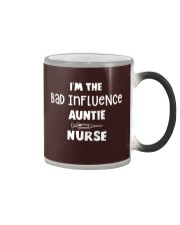 I'm the bad influence Auntie Nurse Color Changing Mug thumbnail