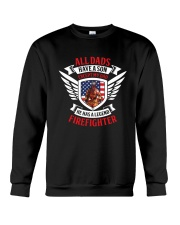 Dad - He Has A Legend Firefighter Crewneck Sweatshirt thumbnail