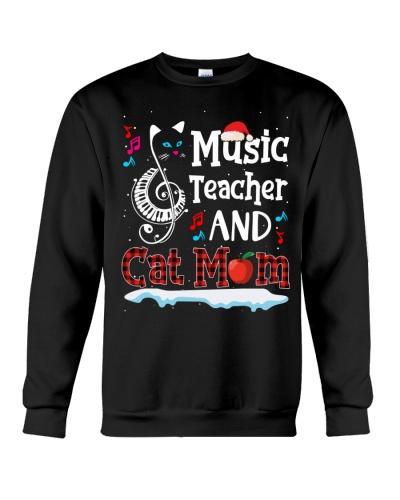 Music Teacher and Cat Mom - Christmas funny Gift