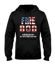 Firefighter - Fire BOD More Knee Flag Hooded Sweatshirt thumbnail