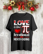 Math Teacher - Love is like Pi Classic T-Shirt lifestyle-holiday-crewneck-front-2