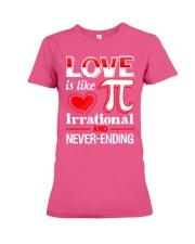 Math Teacher - Love is like Pi Premium Fit Ladies Tee thumbnail